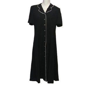 Vintage Dress 80's  Padded Shoulders Maxi